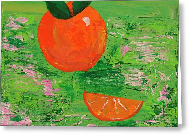 Tangy Paintings Greeting Cards - Have a Slice Greeting Card by Angela Annas