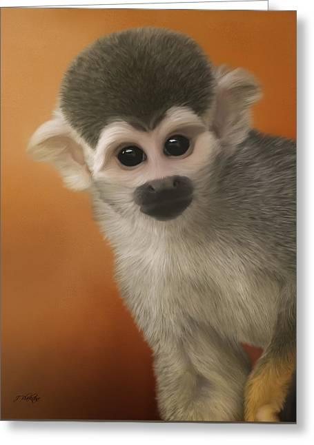 Have Fun - Monkey Business Art Greeting Card by Jordan Blackstone