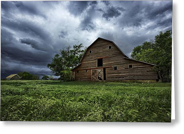 Old Barns Greeting Cards - Haven Greeting Card by Thomas Zimmerman