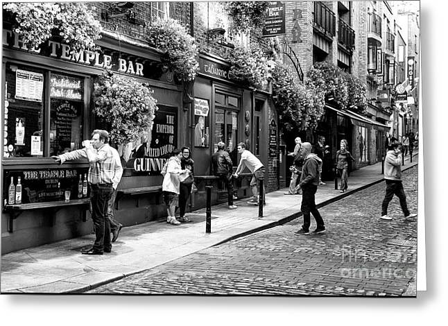 Photo Art Gallery Greeting Cards - Having a Pint Greeting Card by John Rizzuto