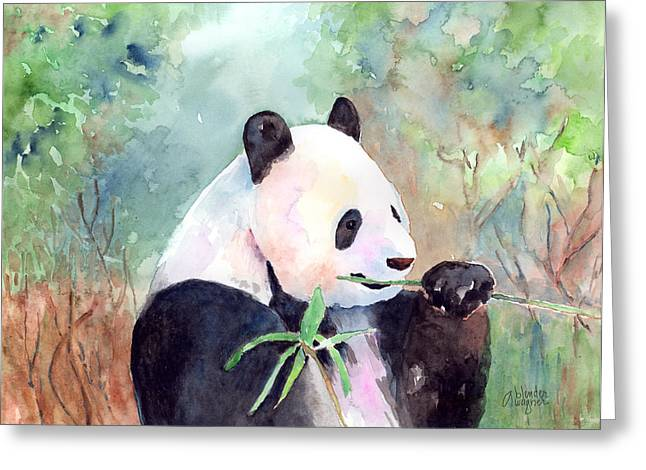 Having A Snack Greeting Card by Arline Wagner
