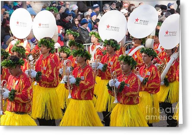 Best Sellers -  - Marching Band Greeting Cards - Hawaii All-State Marching Band I Greeting Card by Clarence Holmes