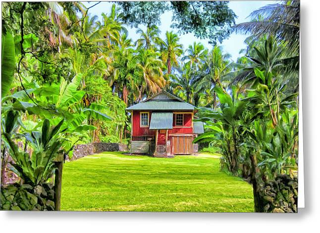 Lahaina Greeting Cards - Hawaii Old Times Greeting Card by Dominic Piperata
