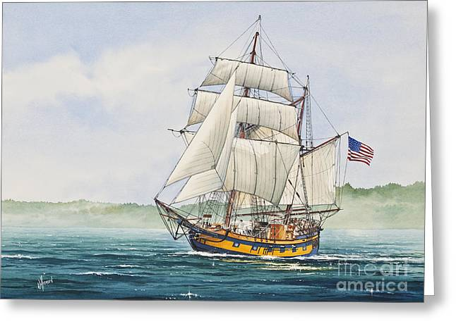 Artist James Williamson Maritime Print Greeting Cards - Hawaiian Chieftain Greeting Card by James Williamson