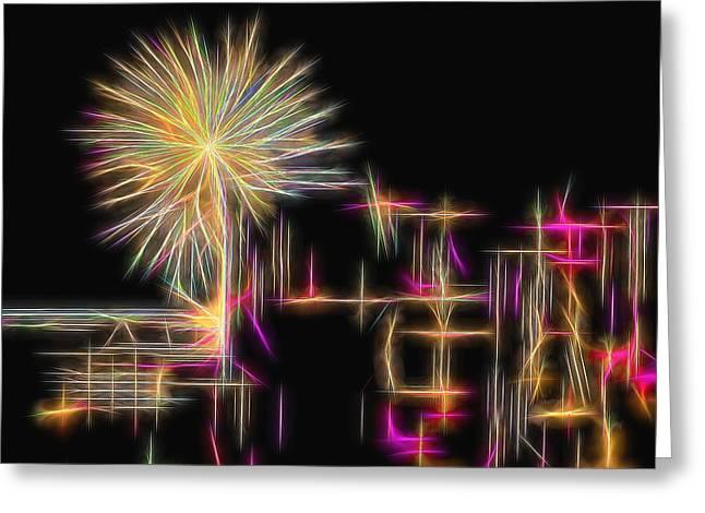 Festivities Greeting Cards - Hawaiian Fireworks Greeting Card by Scott Cameron