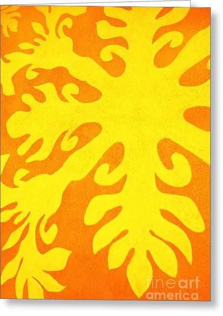 Hawaiiana Pattern Greeting Card by Brandon Tabiolo - Printscapes