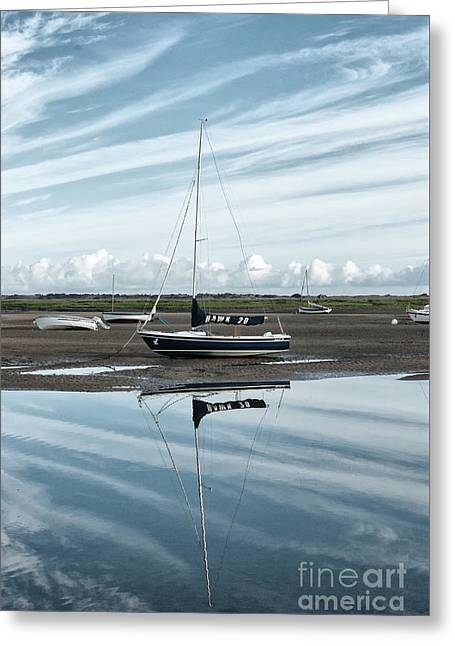 Hawk 20 Brancaster Staithe Norfolk Greeting Card by John Edwards