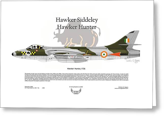 Steve Eggers Greeting Cards - Hawker Hunter Greeting Card by Arthur Eggers