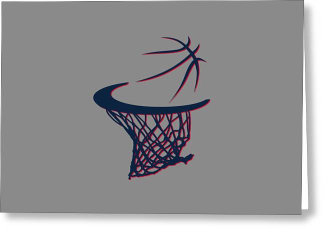 Hawks Basketball Hoop Greeting Card by Joe Hamilton