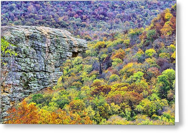 Hawksbill Crag Colors Greeting Card by JC Findley