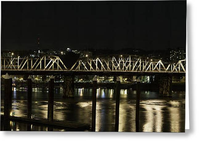 Gigapan Greeting Cards - Hawthorne Bridge Portland Or Greeting Card by Les Clemens