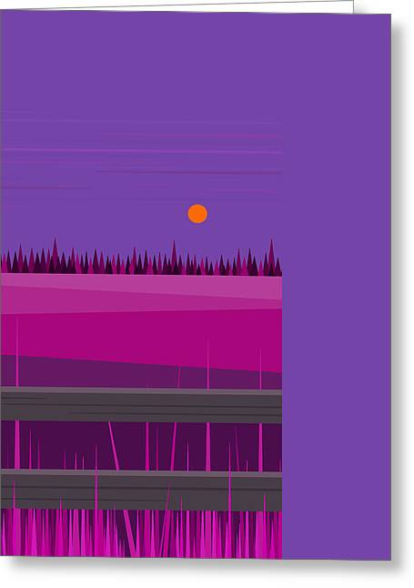 Hay Digital Art Greeting Cards - Hay Fields at Twilight Greeting Card by Val Arie