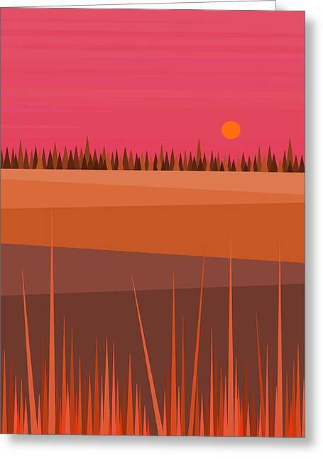Hay Digital Art Greeting Cards - Hay Fields Greeting Card by Val Arie