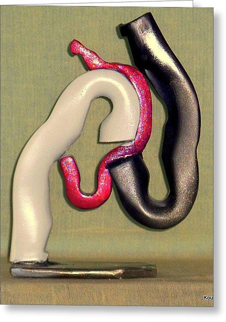 Erotic Sculptures Greeting Cards - Hay Ride Greeting Card by Kent Kanouse