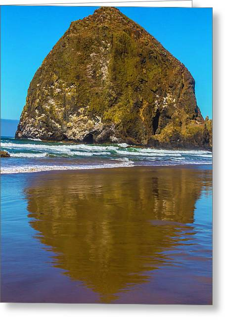 Hay Stack Rock Greeting Card by Garry Gay