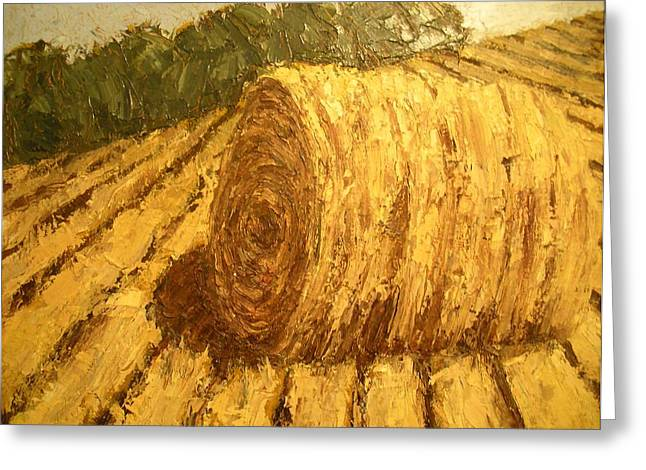 Haybale Hill Greeting Card by Jaylynn Johnson