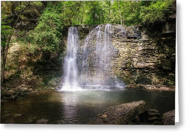 Franklin Photographs Greeting Cards - Hayden Run Waterfall Greeting Card by Tom Mc Nemar