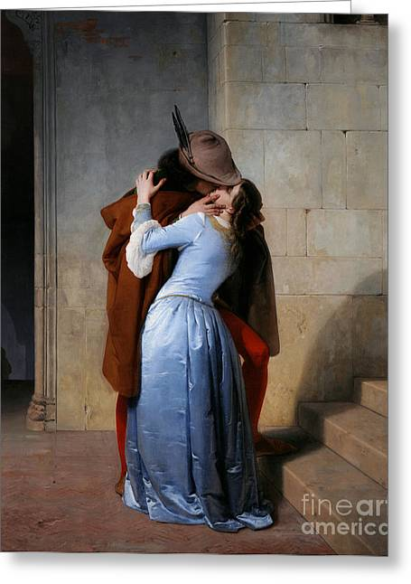 Hayez: The Kiss Greeting Card by Granger