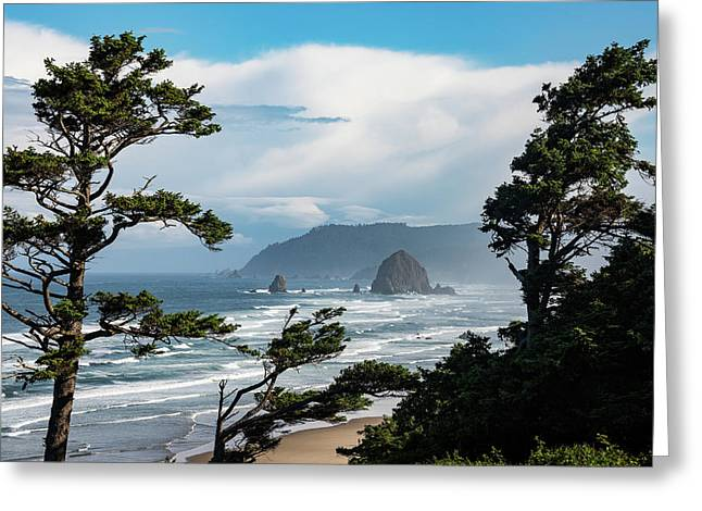 Haystack Views Greeting Card by Darren White
