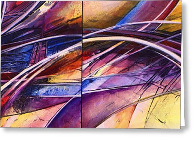 Abstract Movement Greeting Cards - Haze Greeting Card by Michael Lang