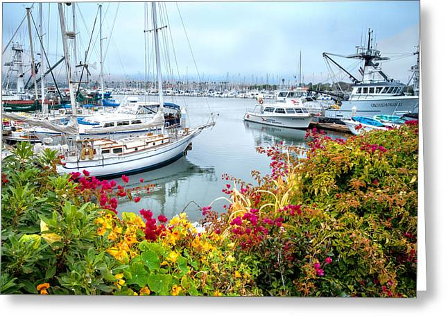 Store Fronts Greeting Cards - Hazy Days at the Harbor 2 Greeting Card by Lynn Bauer