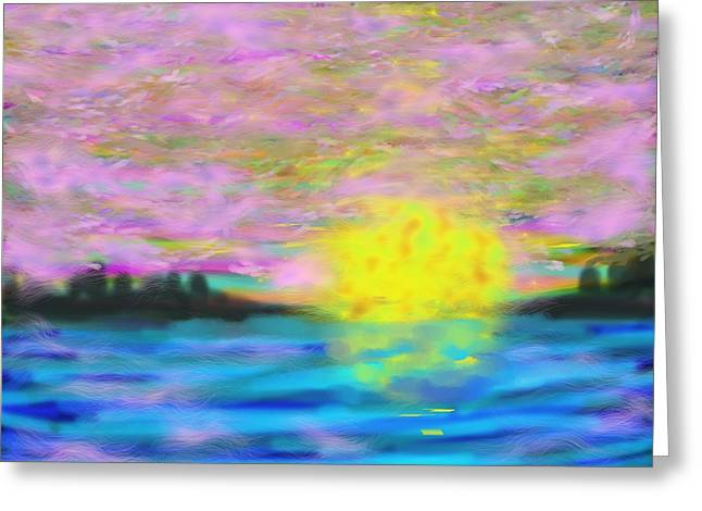 Sunset Greeting Cards Greeting Cards - Hazy Lazy Sunset Greeting Card by Dotti Hannum