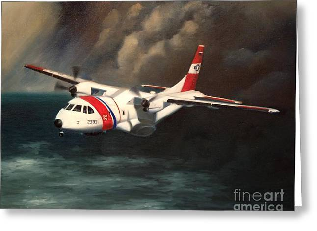 Coast Guard Greeting Cards - Hc-144a Greeting Card by Stephen Roberson