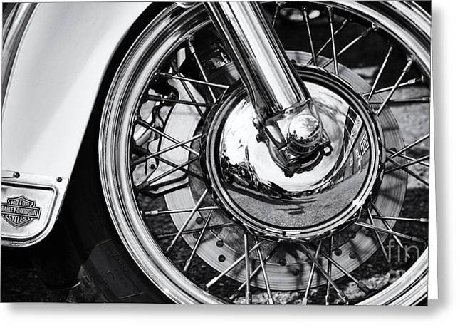 Hd Heritage Softail Greeting Card by Tim Gainey
