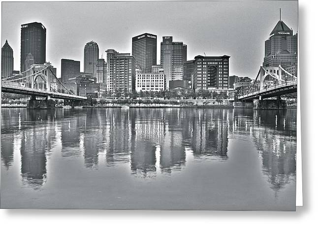 Incline Greeting Cards - HDR Pittsburgh Greeting Card by Frozen in Time Fine Art Photography