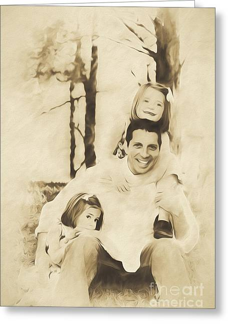 Polo Shirts Greeting Cards - He is Our Daddy Greeting Card by Jan Tyler