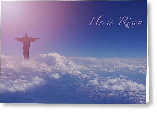 Resurrection Greeting Cards - He Is Risen Greeting Card by Sheela Ajith