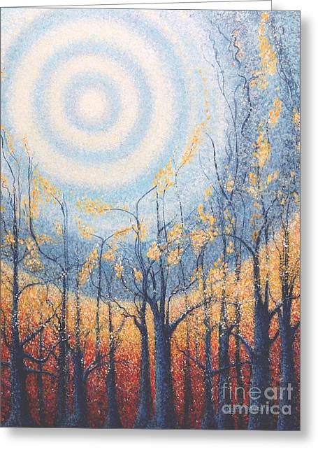 The Sun God Greeting Cards - He Lights the Way in the Darkness Greeting Card by Holly Carmichael