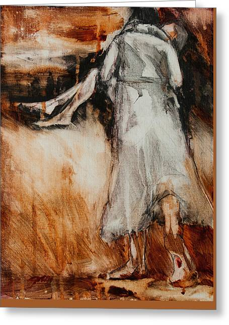 He Walks With Me Greeting Card by Jani Freimann