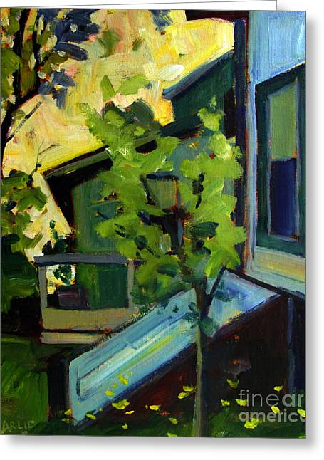 Basement Paintings Greeting Cards - Head for Shelter Greeting Card by Charlie Spear