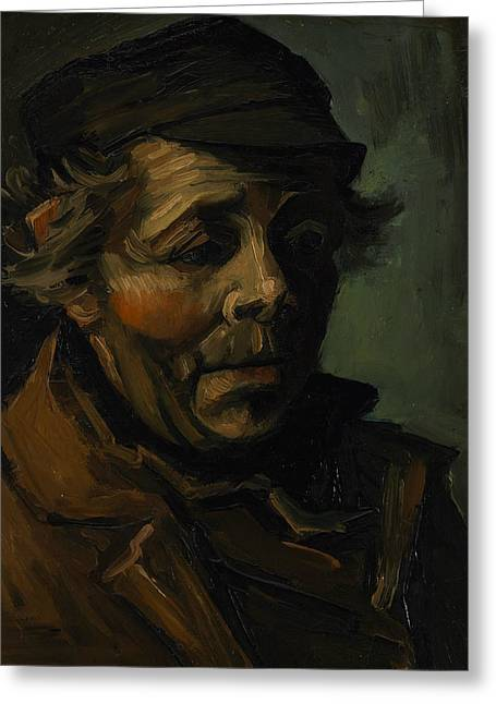 Head Of A Peasant  Greeting Card by Vincent van Gogh