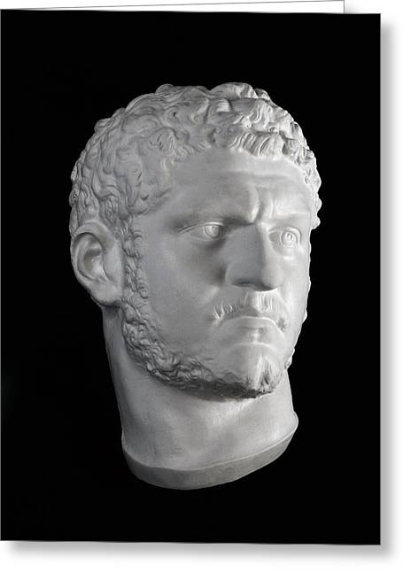 Bust Sculptures Greeting Cards - Head of Caracalla Greeting Card by Andrea Felice