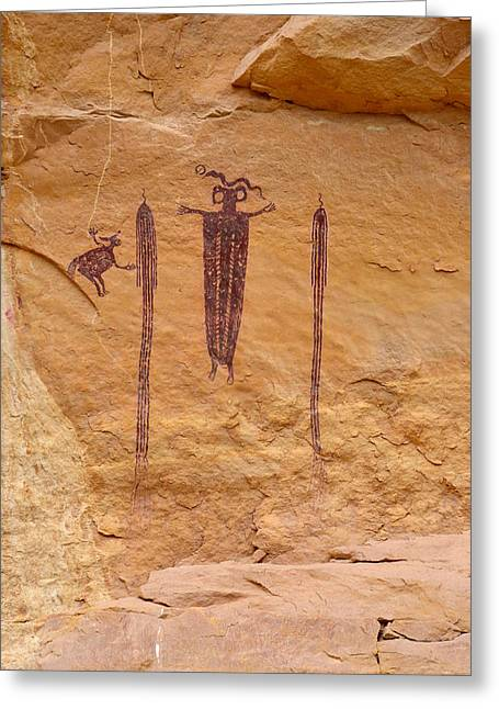 Whalley Greeting Cards - Head of Sinbad Pictograph Greeting Card by Tranquil Light  Photography