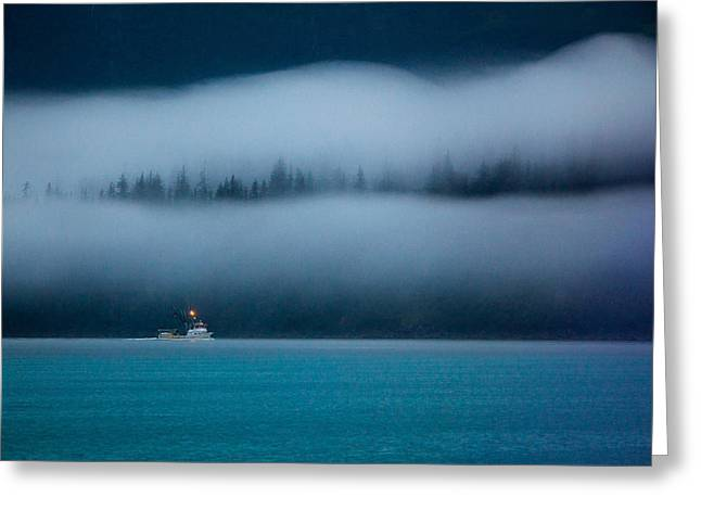Prince William Sound Greeting Cards - Headed Home Greeting Card by Dan Holmes