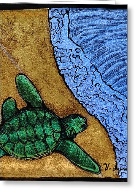 Sand Glass Greeting Cards - Headed out to sea Greeting Card by Valerie Lynn