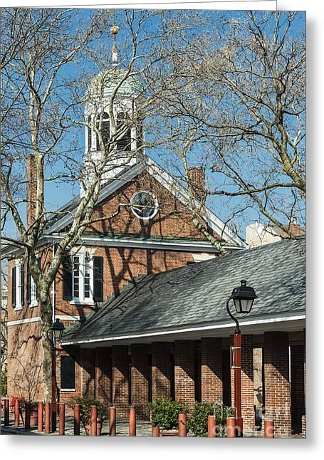 Historic Neighborhood Greeting Cards - Headhouse Square Greeting Card by John Greim