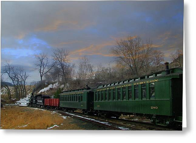 Colorado Railroad Museum Greeting Cards - Heading Home Greeting Card by Ken Smith