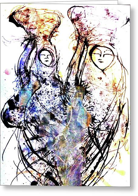 Pen Mixed Media Greeting Cards - Heading Home Greeting Card by Mark M  Mellon