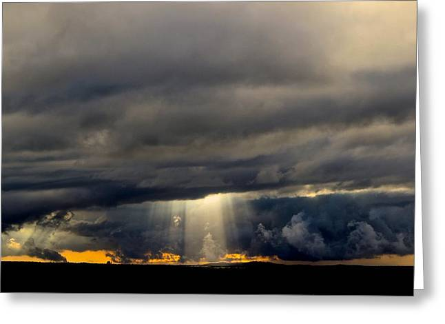 Raining Greeting Cards - Heading Into The Storm  Greeting Card by Kimberly  Reeves