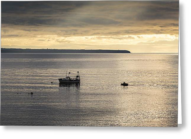 Heading Out Greeting Cards - Heading out to Sea Greeting Card by Graham Daly