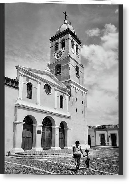 Cuban Greeting Cards - Heading to Church Greeting Card by Dawn Currie