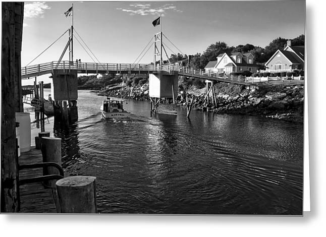 Cape Neddick Greeting Cards - Heading to Sea - Perkins Cove - Maine Greeting Card by Steven Ralser