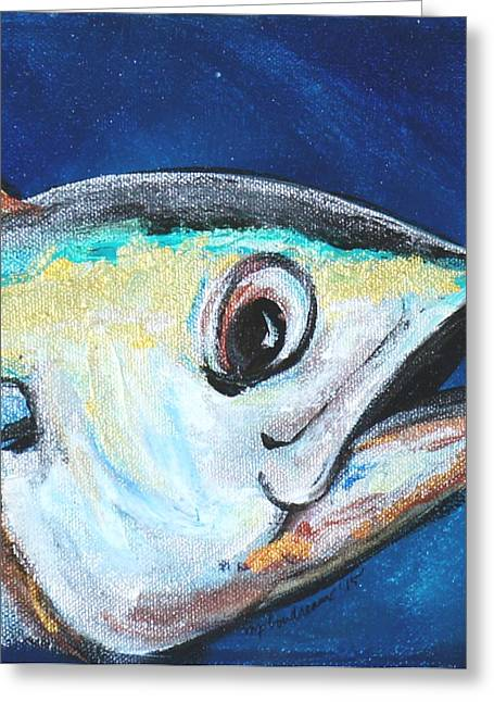 Snorkel Mixed Media Greeting Cards - Heads Up  Greeting Card by Maria Boudreaux