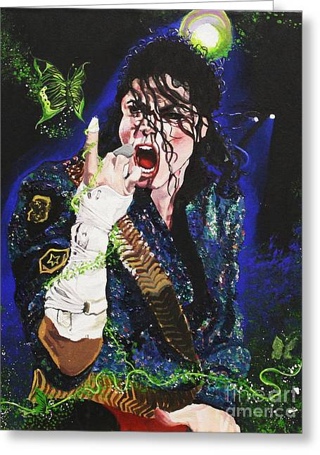 Mj Greeting Cards - Heal The World Greeting Card by Lauren Penha