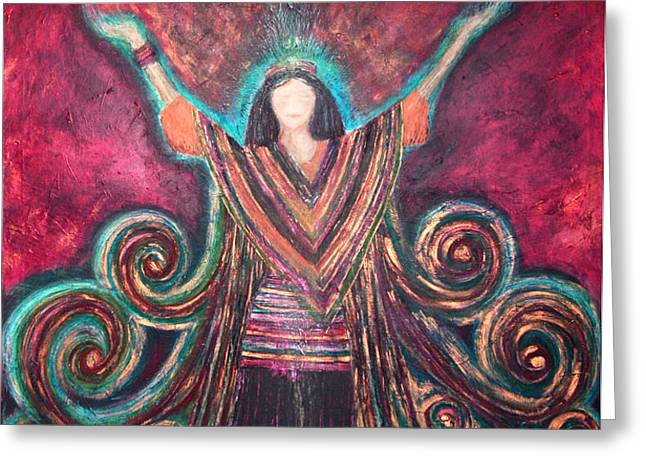 Healing Energy Greeting Card by NARI - Mother Earth Spirit