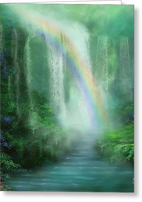 Healing Grotto Greeting Card by Carol Cavalaris
